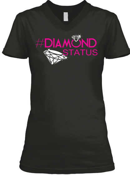 #Diamondstatus Black T-Shirt Front