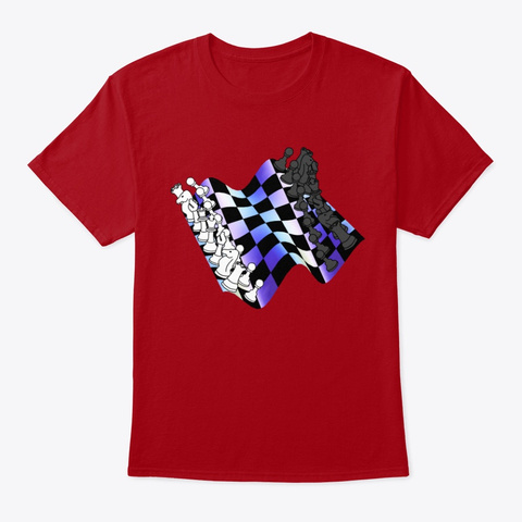 Chess Deep Red T-Shirt Front