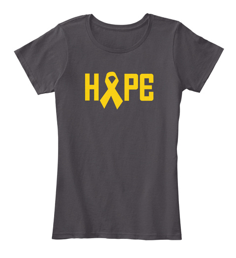H  Pe Heathered Charcoal  T-Shirt Front