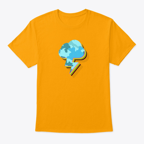 🌩️thunder Cloud Gold T-Shirt Front
