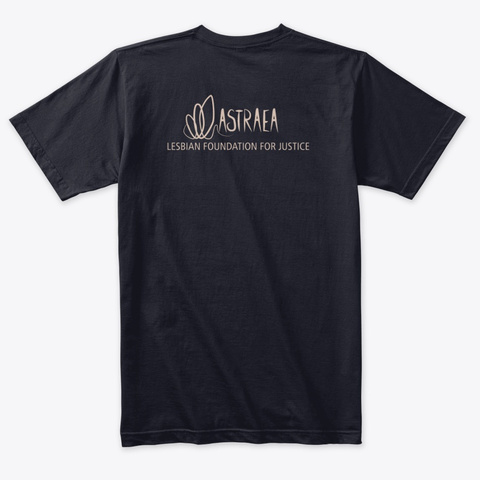Healing Is Justice   Astraea Foundation Vintage Navy T-Shirt Back