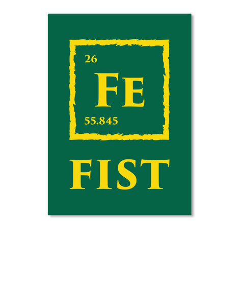Fist Sticker [Usa] #Sfsf Forest Green Sticker Front