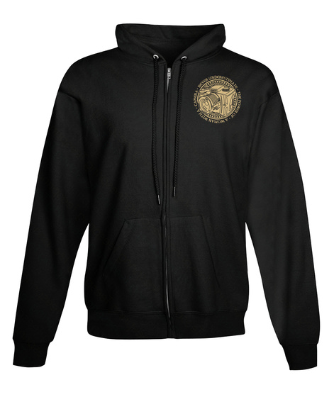 Woman With A Camera   Full Zip Hoodie Black T-Shirt Front