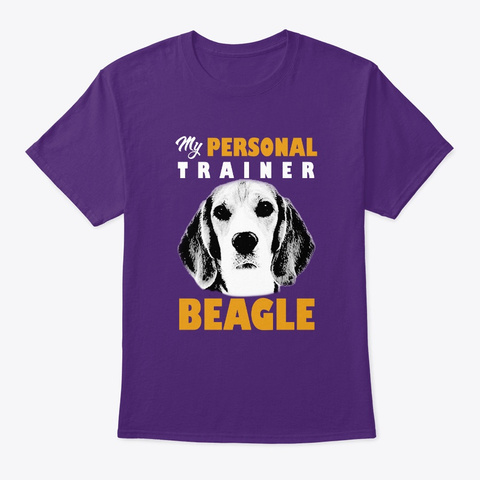 Personal Trainer Is Beagle T Shirt Purple T-Shirt Front
