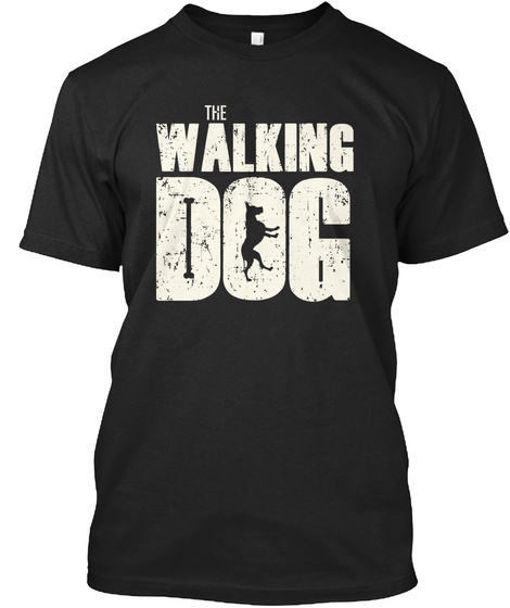 The Walking Dog Black T-Shirt Front