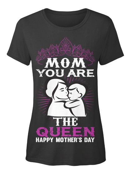 Mother's Day Best T Shirt  Black T-Shirt Front