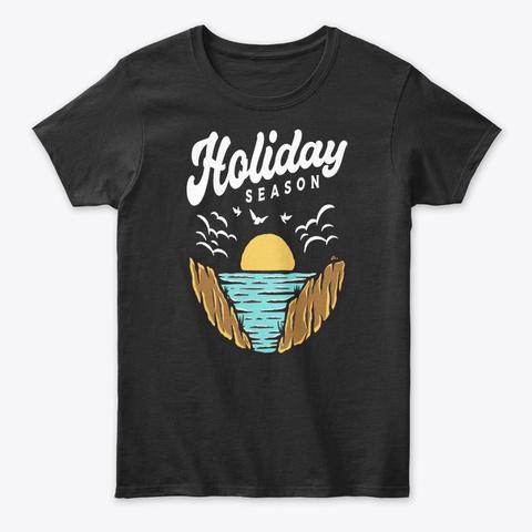 Holiday Season Tee Black T-Shirt Front
