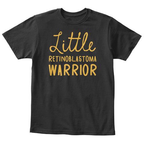 Little Retinoblastoma Warrior Black T-Shirt Front