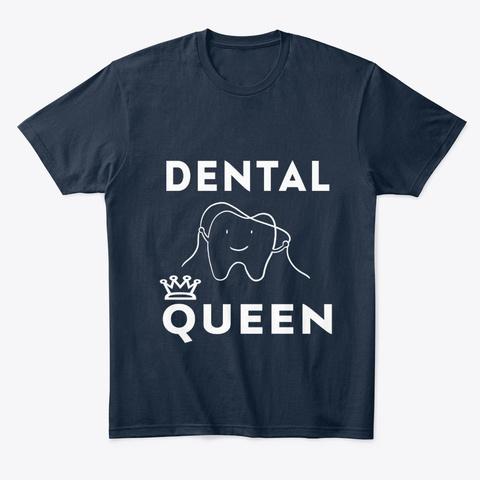 Dental Queen New Navy T-Shirt Front