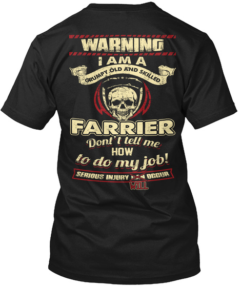 Farrier  Limited Edition Black T-Shirt Back