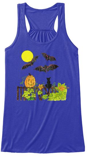 Halloween Night Yoga True Royal T-Shirt Front