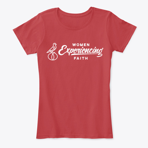 Women Experiencing Faith Classic Red Women's T-Shirt Front