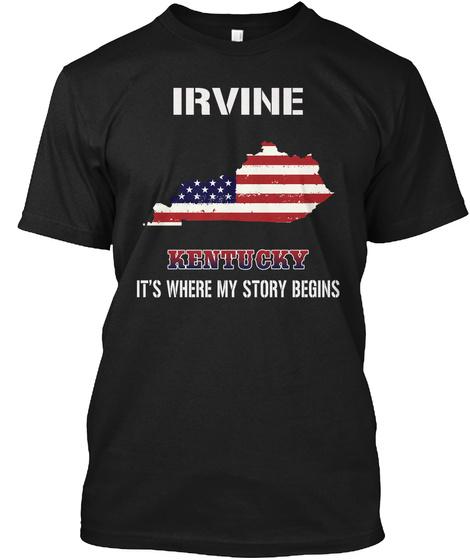 Irvine Ky   Story Begins Black T-Shirt Front