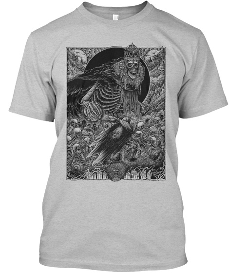 Into Darkness Light Heather Grey  T-Shirt Front