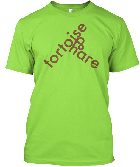 Tortoise And Hare Lime T-Shirt Front