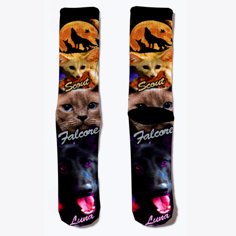 Dro Channel Socks Black T-Shirt Front
