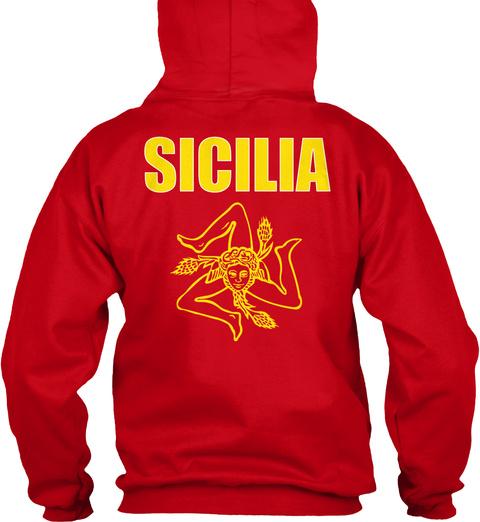 Sicilia Sicilia Red Sweatshirt Back
