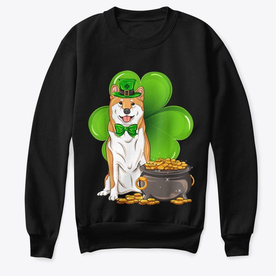 Shiba Inu St Patricks Day Dog Mom Dad - Funny Cheap St Partricks Day Sweatshirts T Shirt Design