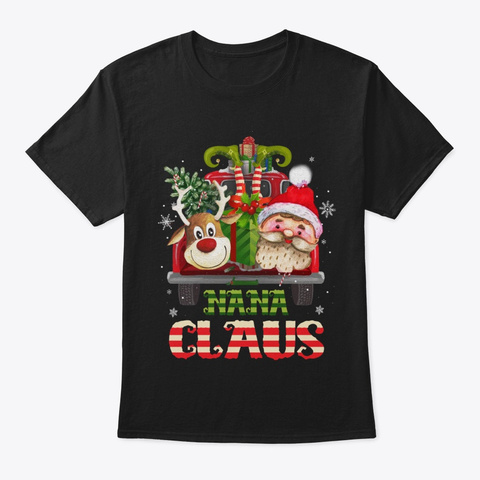 Grandma Claus   Christmas Shirt Black T-Shirt Front