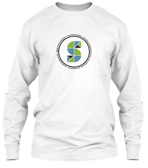 S White Long Sleeve T-Shirt Front