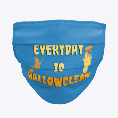 Everyday Is Hallowclean Denim Blue T-Shirt Front