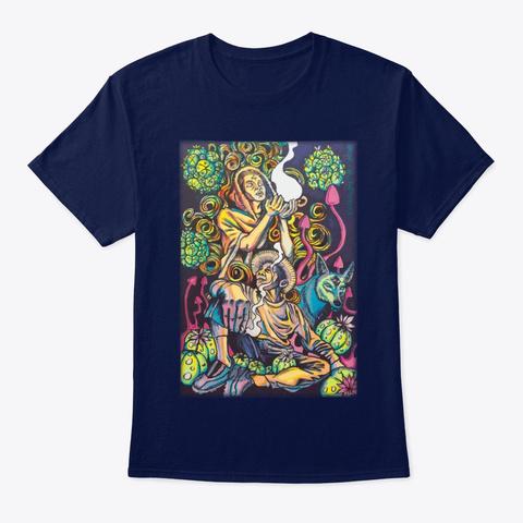 Peyote's Trip Navy T-Shirt Front