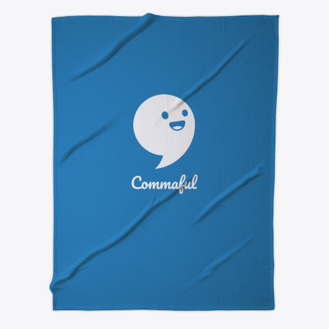 Commaful Blanket Denim Blue T-Shirt Front