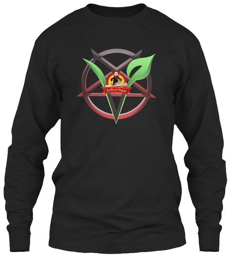 Death Metal Vegan W/Logo Black Long Sleeve T-Shirt Front