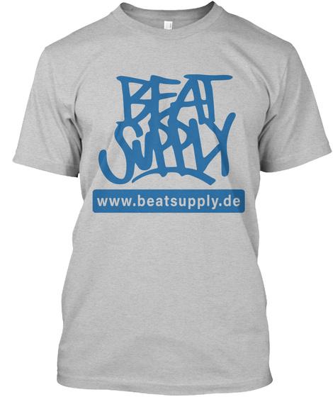 Official Beat Supply T Shirt Light Heather Grey  T-Shirt Front