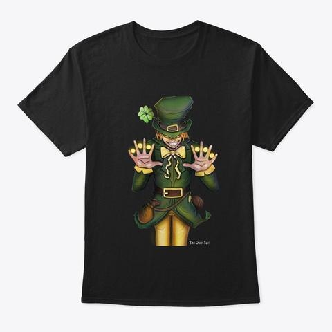 Feelin' Lucky? Black T-Shirt Front