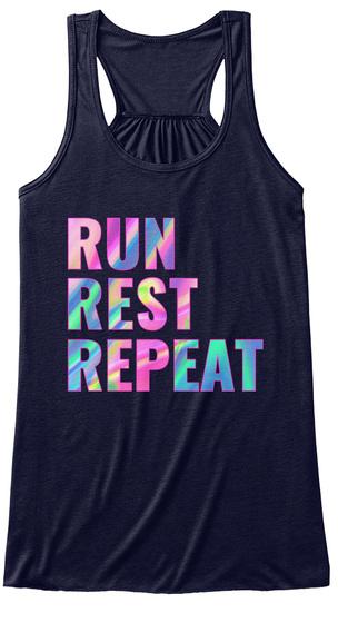 Run Rest Repeat Midnight T-Shirt Front