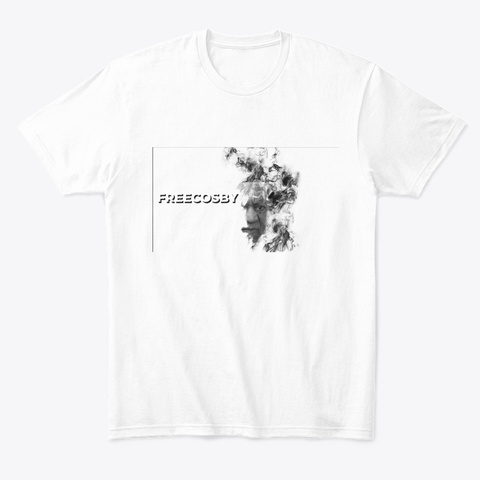 Free Cosby Design White T-Shirt Front