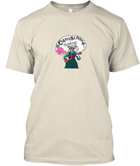 Ca Ta St Rop Hie Thinking Cream T-Shirt Front