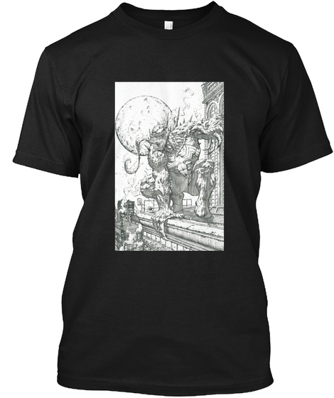 Venom Art Black T-Shirt Front