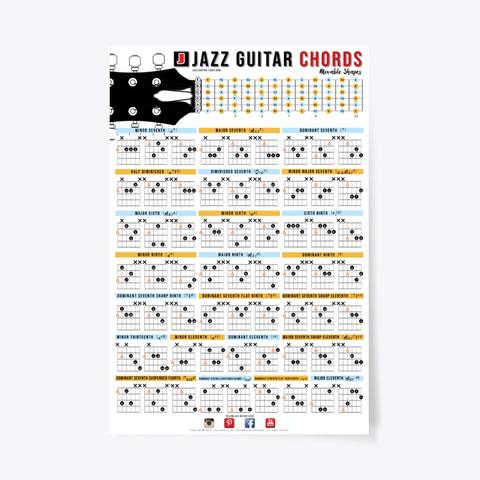 Jazz Guitar Chord Chart Poster Standard T-Shirt Front