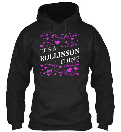 Its A Rollinson Thing Black T-Shirt Front