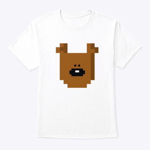 Mr Bean Teddy White T-Shirt Front
