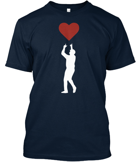 Spread Love   Official David Ortiz Children's Fund Merchandise New Navy T-Shirt Front