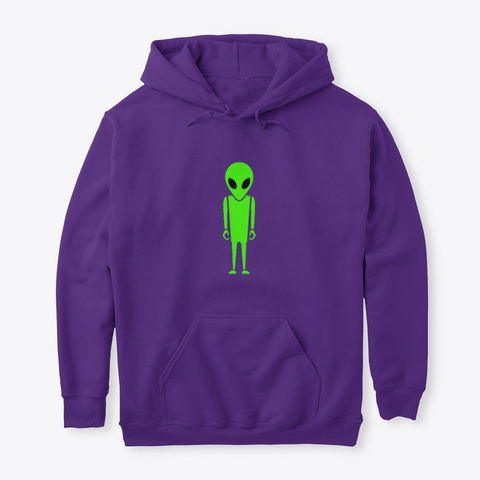 Alone In The Galaxy Purple T-Shirt Front