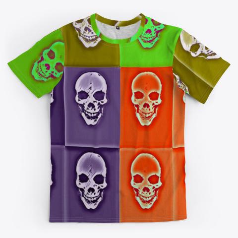 Cubist Skulls | Halloween |  90's Theme Standard T-Shirt Front