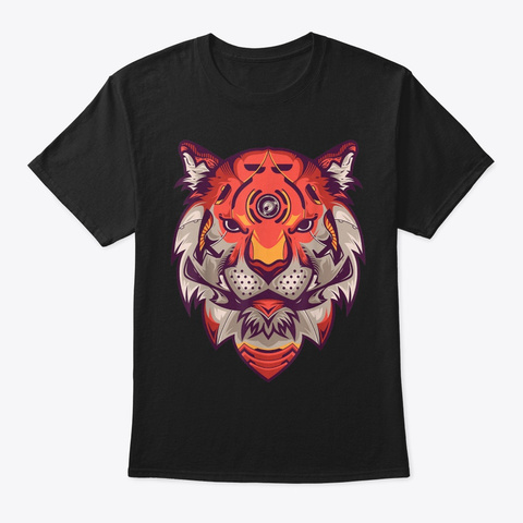 Proud Tiger Perfect Gift Wildlife Black T-Shirt Front