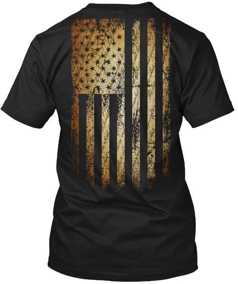 Veteran Blank Check Black T-Shirt Back