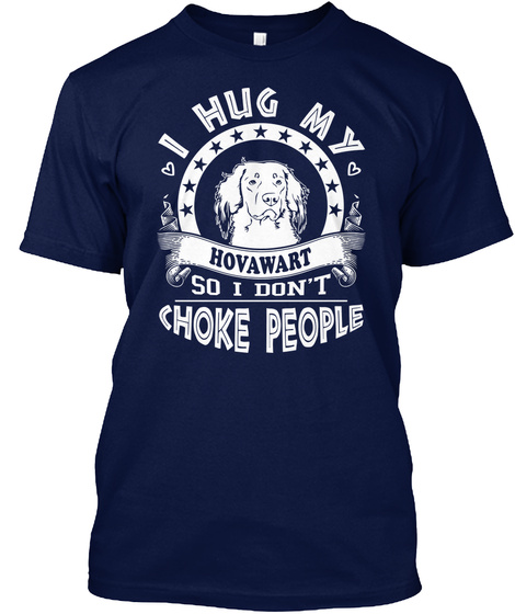 Hovawart Navy T-Shirt Front