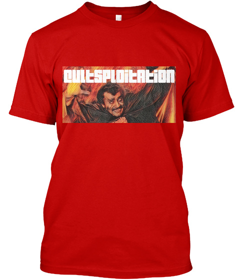 Blacula In Flames Classic Red T-Shirt Front