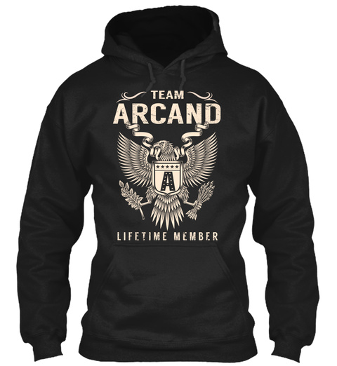 Team Arcand A Lifetime Member Black T-Shirt Front