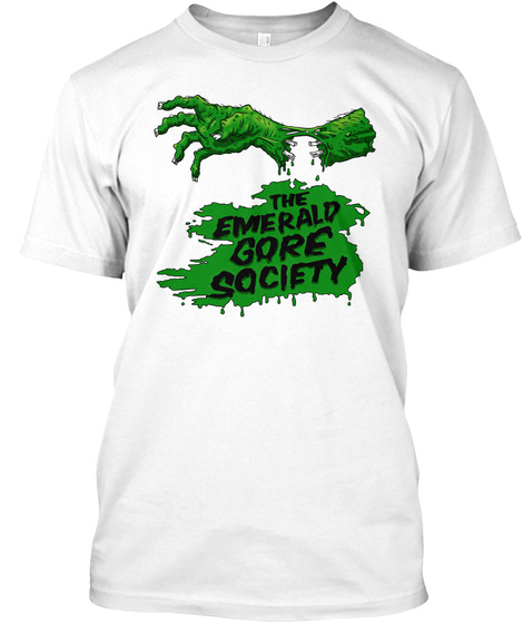 The Emerald Gore Society White T-Shirt Front