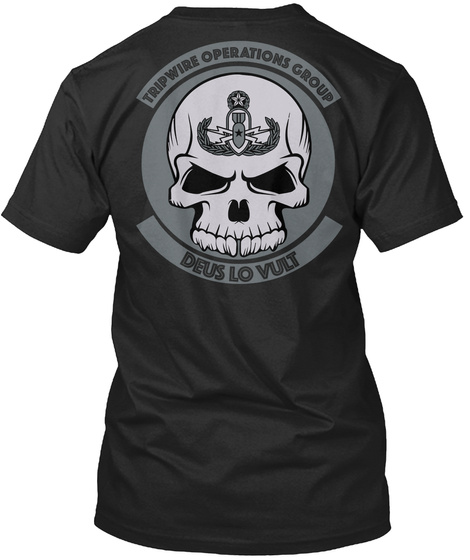 Trip Wire Operations Group Deus Lo Vult Vintage Black Kaos Back