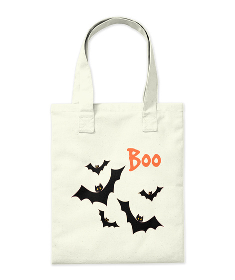Boo Natural Tote Bag Back