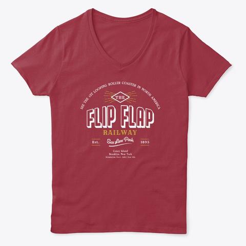 Flip Flap Railway 1895 Vintage Logo Deep Red  T-Shirt Front