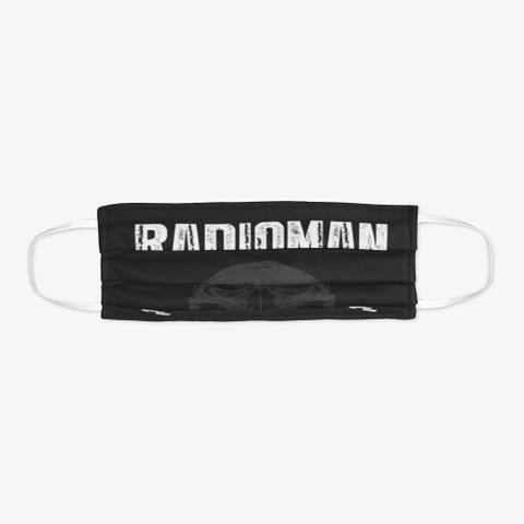 Radioman Mask Get One Now Black T-Shirt Flat